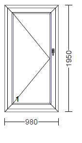 100 1 teilige kunststoff terrassent r wei ohne glas relebo fensterb rse. Black Bedroom Furniture Sets. Home Design Ideas